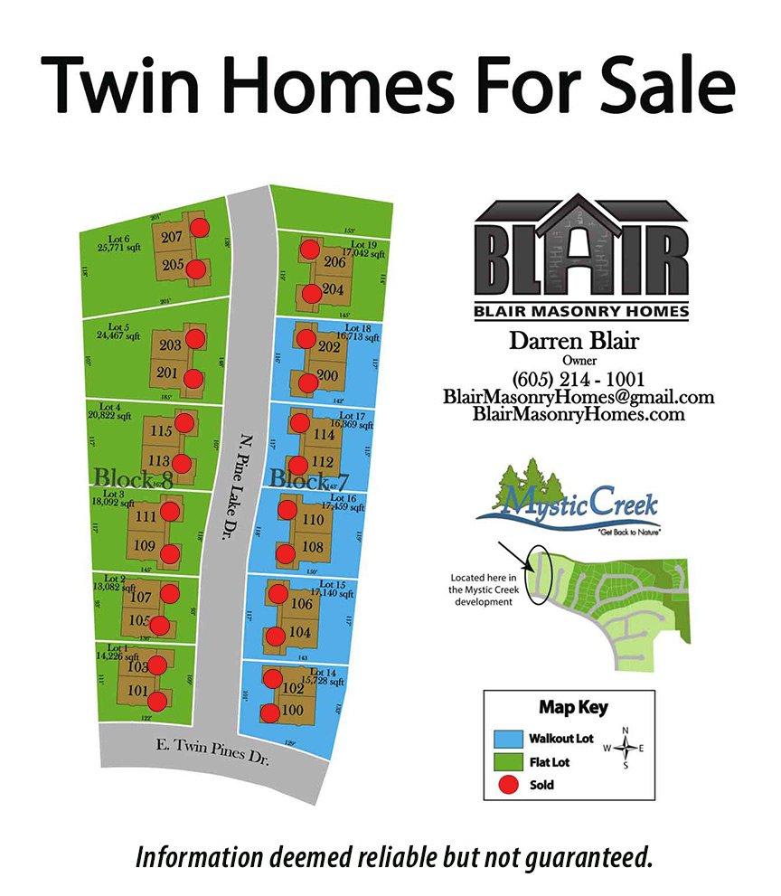 Blair Masonry Twin Homes Map